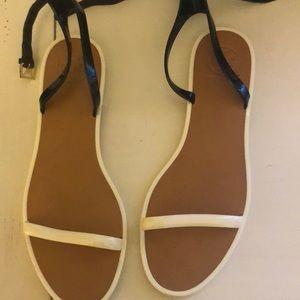 Black and white jelly Tory Burch sandals